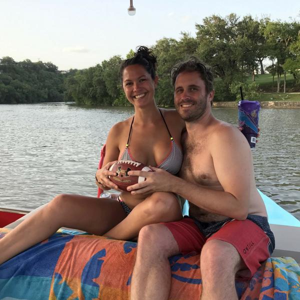 Throwback to prom photos on Lake Austin