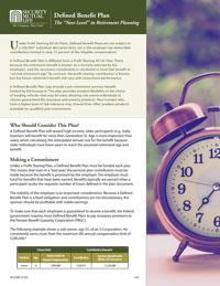 Defined Benefit Plans Client Brochure