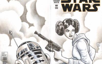Princess Leia/R2D2 Sketch Cover