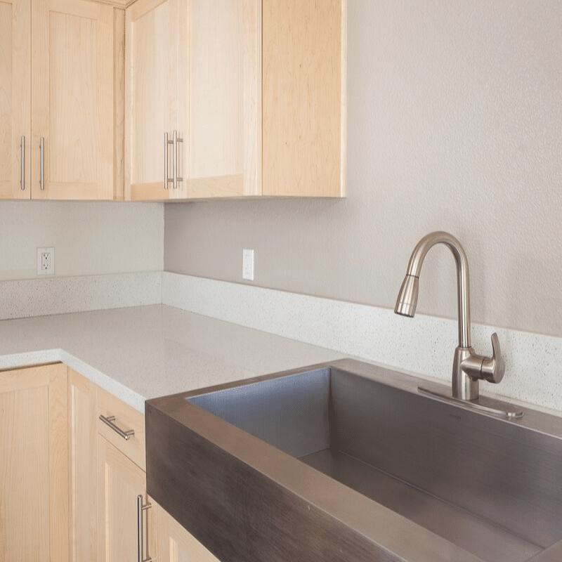 Stainless steel kitchen fixtures
