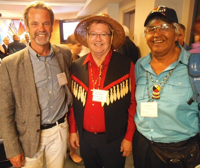 Doug Goodwin (left) and Rennie Nahanee were among the church leaders is attendance, along with **** ****.