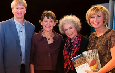 Markku and Leah Kostamo met Margaret Atwood on Lorna Dueck's Contetxt TV show.