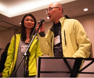 Grace Lee helped her father Lawrence Lee to organize the Canada Chinese Christian Winter Conference.