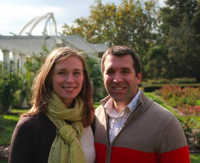 Kathryn and Ryan Cochran spent time in their front yard in order to meet their neibhbours.