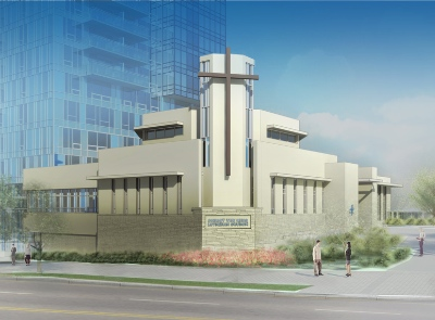 Christ the King Lutheran Church  will be at the base of the new tower: