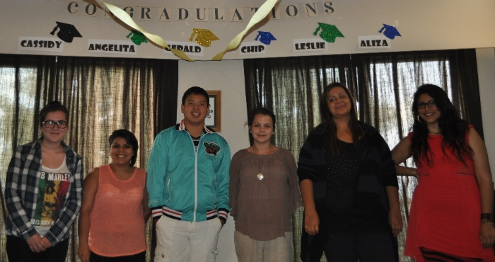 There are six of the eight young people connected with Inner Hope who graduated this year.