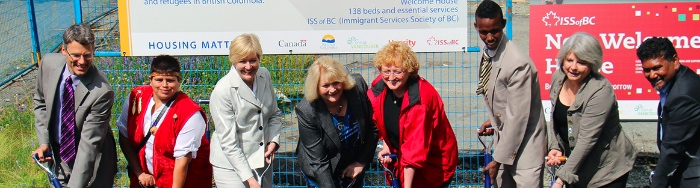 The ground-breaking ceremony for Welcome House took place June 20.  Photo supplied by ISSofBC.