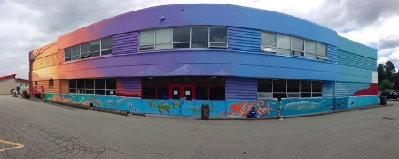 Holy Cross Regional High School was pointed for - and won - the WWF mural competition. Photo from HCRHS Facebook page.