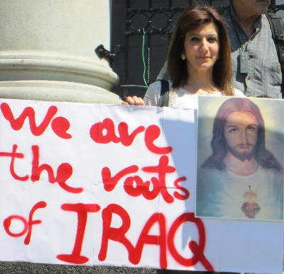 Local Iraqi Christians demonstrated earlier this year, asking the government to do more to help their persecuted compatriots.