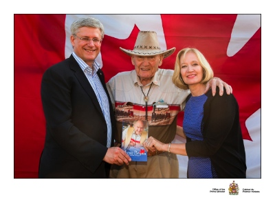 Arne Bryan was received a warm welcome from Prime Minister Stephen Harper and his wife Laureen during their recent visit to BC.