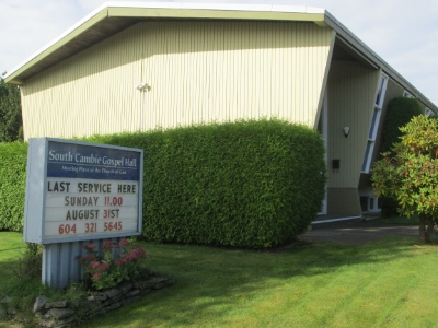 South Cambie Gospel Hall has been active in Vancouver since 1938.