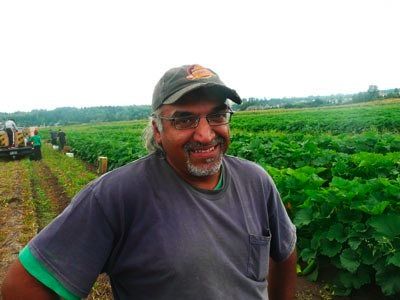 Jas Singh has been running God's Little Acre for four years; with the help of volunteers the farm donates to the