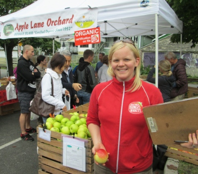 Laura Smit loves the atmosphere at the Trout Lake Market.