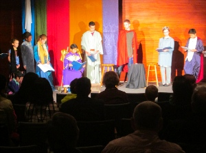 Dorothy Sayers' The Man Born to Be King, performed at New Life Community Church.