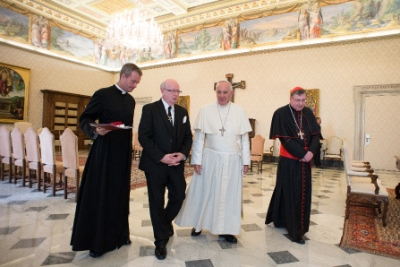 The most recent visit between Geoff Tunnicliffe and Pope Francis was November 6.