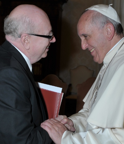 The head of the World Evangelical Alliance Alliance and the head of the Roman Catholic Church. Geoff Tunnicliffe and Pope Francis met twice this year.