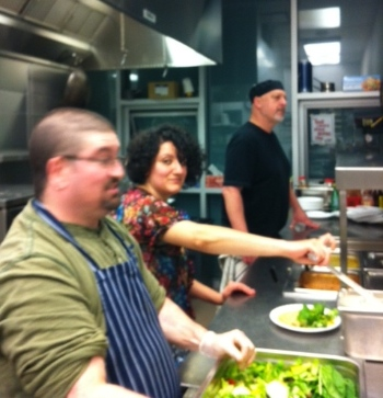 Some of the Soulkitchen team at work; Hannes Tischhauser at right.