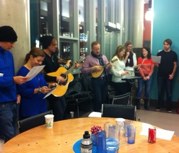 An evening of crepes and carolling at Karis Place.