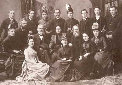 These CIM missionaries set out from Canada in ***. Hudson Taylor is seated, just right of centre.