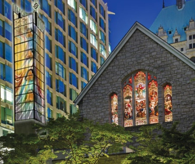 Sarah Hall will create '*** ***' (at left) for Christ Church Cathedral.
