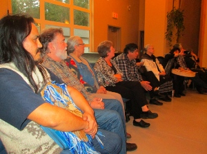 Darryl Klassen, second from left, was recently celebrated for his 25 years with Aboriginal Neighbours.