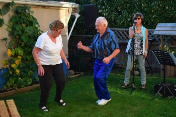 Barry and Joan Jung hosted a backyard barbecue with live music and an open mic, performed/organized by one of their talented neighbours.