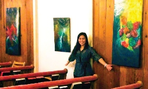 Eileen Li (Shum) led a group to worship together using the arts.
