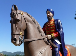 This statue commemorates Sikh settlers who arrived in 1897,