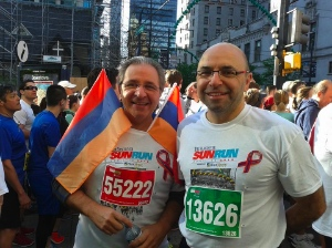 Some 40 members of the Armenian community took part in the Sun Run. Photo by Eddie Petrossian.