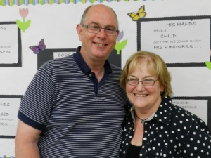 Byron Grant, with his wife Diane, will remain at New Beginnings as preaching pastor.