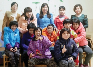 Tao Tao and Ju Ju (second and third from the left in the centre row) have become blossomed in their new surroundings.
