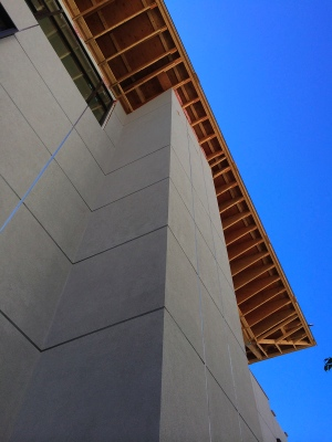 The facade of the building. Photo by Shannon Lythgoe.