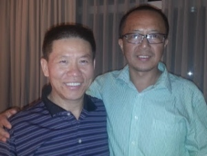 Bob Fu (left), founder and president of China Aid, is grateful that Canada has allowed Li Jianfeng to resettle in Canada.