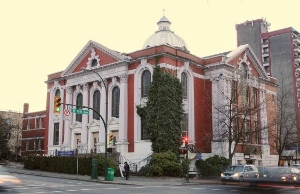 Holy Trinity Anglican Church is on 12th Avenue, a block west of Granville Street. The Chalmers Building originally housed a Presbyterian and then a United Church.