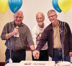 James Grunau (left), John Dyck and Jerry Hranka have been with Journey Home Community since the beginning. Photo by Derek Chu.