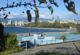 The view in Kitsilano today.