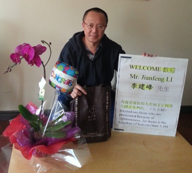Former judge Li Jianfeng spent 11 years imprisoned in China, and has now been welcomed to Vancouver by Faith Chinese Baptist Church.