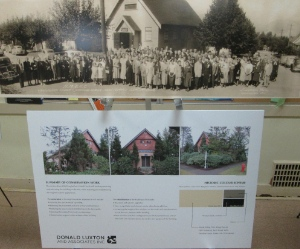The congregation of Douglas Park United Church (top) and the neglected building today.