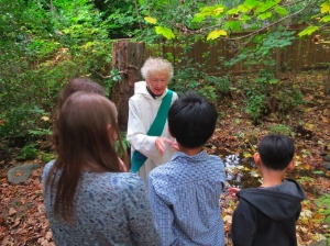 Rev. Elizabeth Mathers, a deacon at St. Clement's Anglican Church, with members of the church's Sunday school.