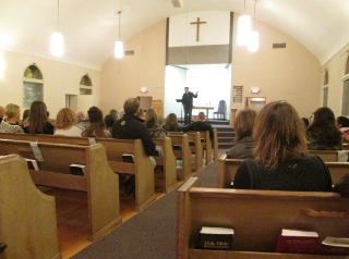 About 80 people from several Christian Reformed churches, a from other churches, met November 22 to discuss the refugee situation and ways to participate with ISSofBC.