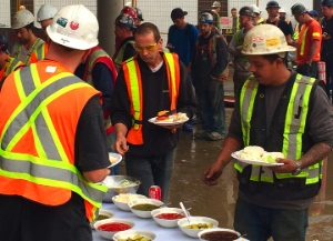 Volunteers from First Vancouver CRC fed workers at Welcome House last month.