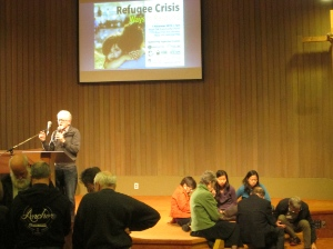 The prayer groups began with lamentation, and then prayed for local churches to open their hearts to refugees, and then for the refugees themselves.