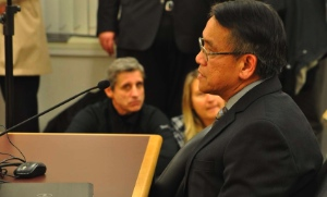 Francis Wong, director of finance for the Roman Catholic Diocese of Vancouver, also come out from Vancouver for the council meeting.