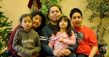 Jose Figueroa rejoined his family in time for Christmas after more than two years in Walnut Grove Lutheran Church.