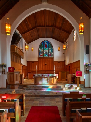The interior of St. Philip's Anglican Church.