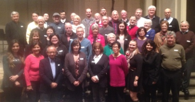 CoSA volunteers gathered for a banquet at Cedar Park Church February 19.