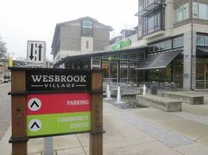 The site of Wesbrook Village, south of the UBC campus, was bush until recently.