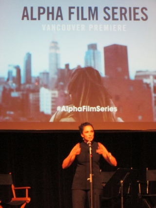 Shaila Visser hosted the launch of the Alpha Film Series.