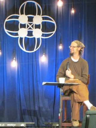 Shane Claiborne offered some colourful vignettes of life in north Philadelphia.