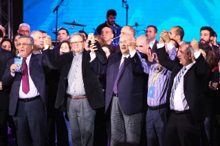 Joseph Najem (left) and other Lebanese leaders held a very successful conference last fall which brought Christians and Muslims together.
